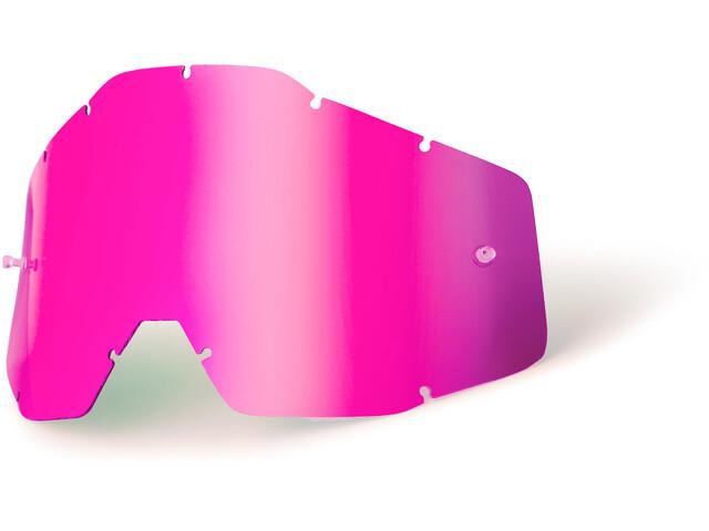 100% Verres de remplacement, pink / mirror